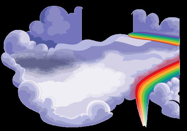 nubes y arcoiris