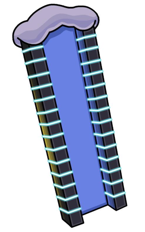 columna luminosa brillante